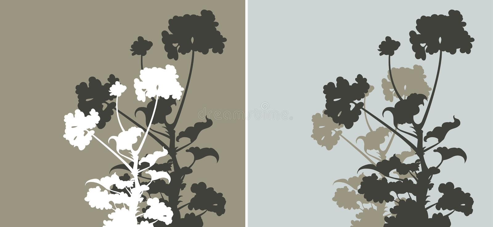 Download Floral silhouettes stock vector. Illustration of color - 4363520