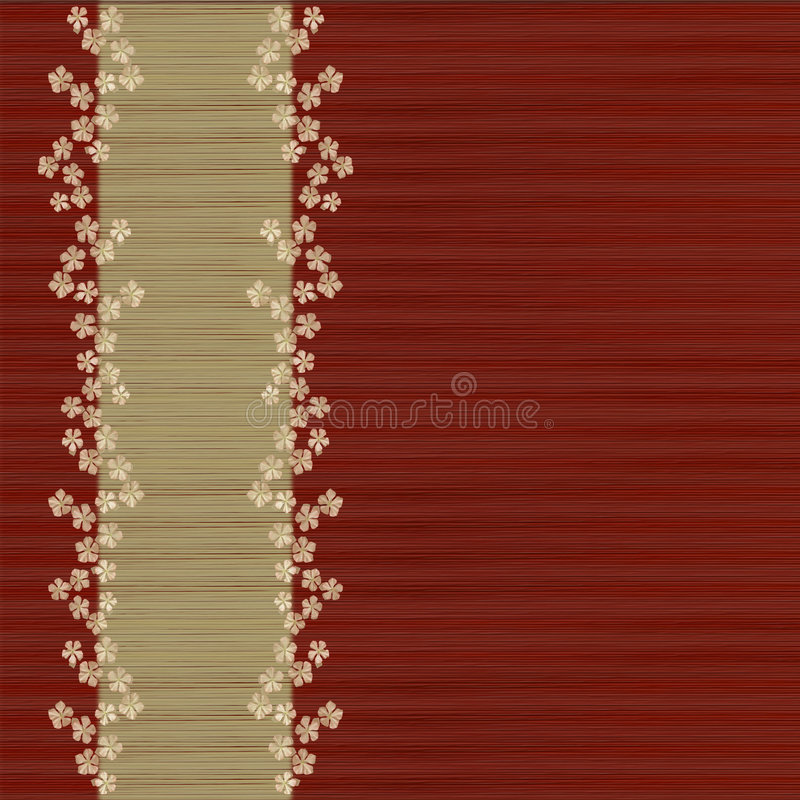 Download Floral Slatted Red Background And Menu Bar Stock Photo - Image: 7617572