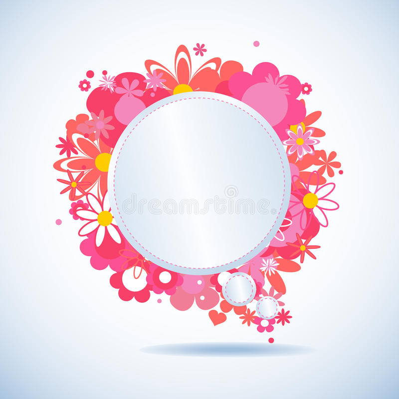 Floral speech bubble stock illustration