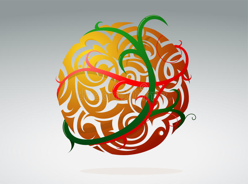 Download Floral sphere stock vector. Illustration of swirls, decorative - 21418489
