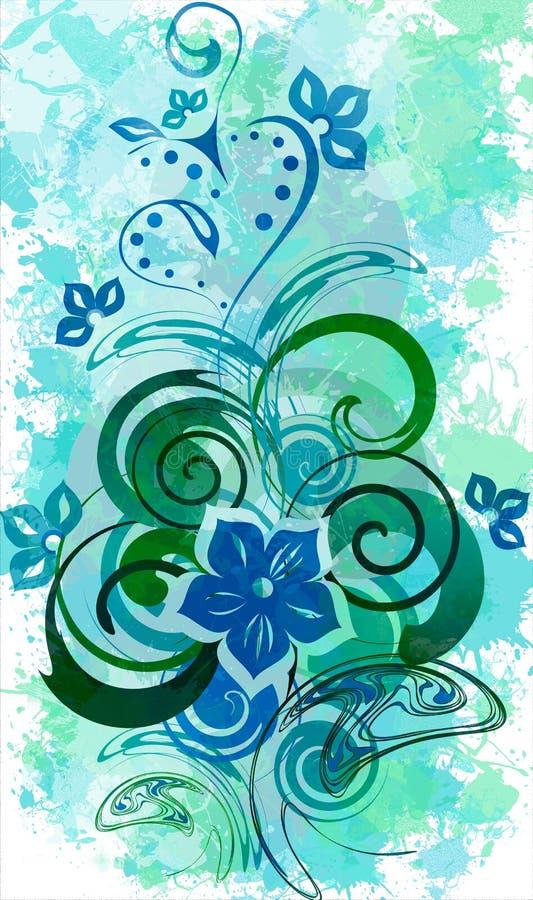 Download Floral splash stock illustration. Illustration of green - 26841971