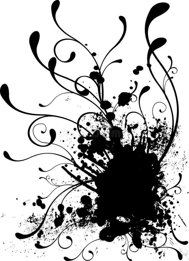 Floral splat stock illustration