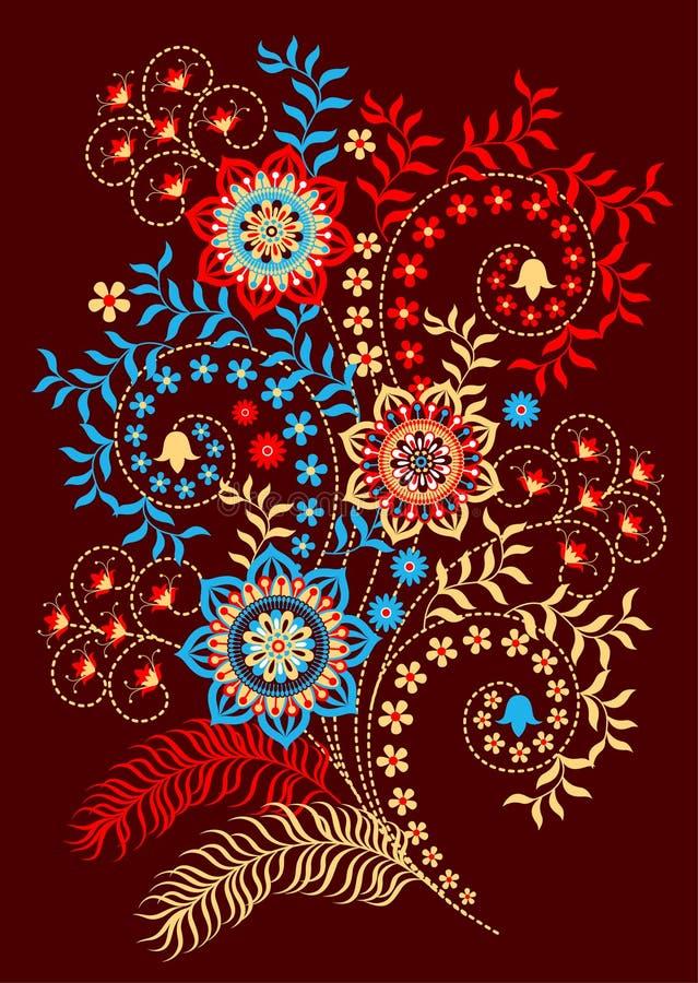 Download Floral sprig stock vector. Illustration of flora, embroidery - 23875323