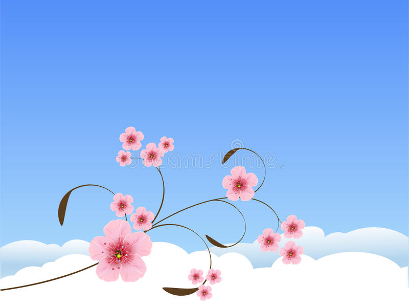 Floral Spring Background Stock Photography