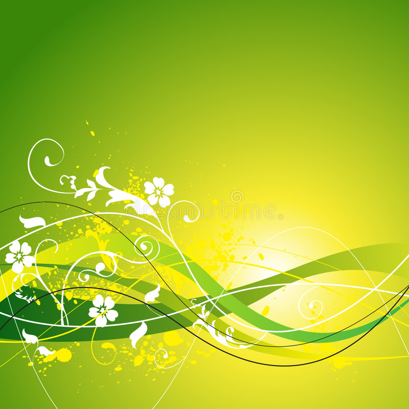 Floral Spring and Summer Background royalty free illustration