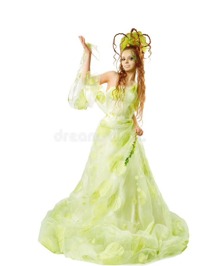Floral spring woman royalty free stock image