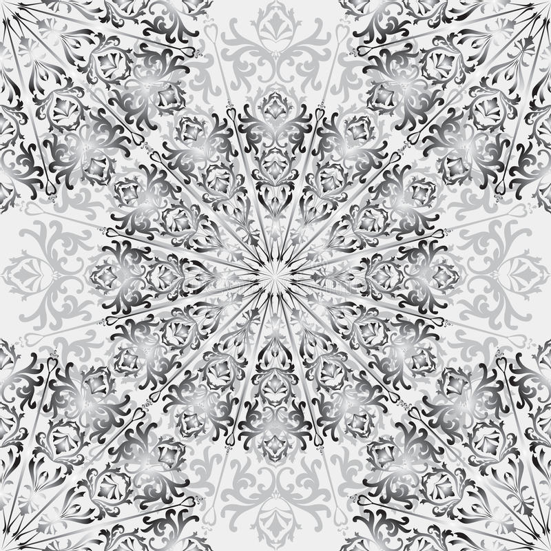 Floral square pattern. Chinese ornamental abstract background royalty free illustration