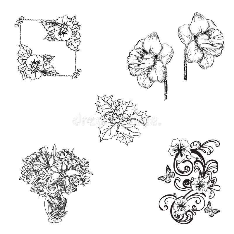 Floral Stamp Set stock photos