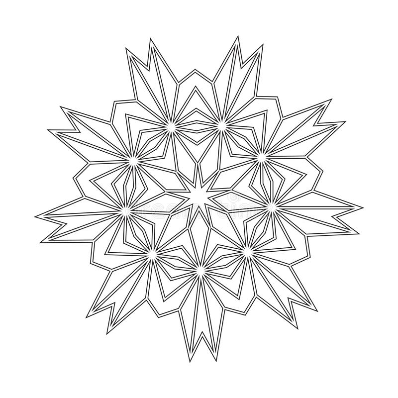 Floral Straight Lined Mandala Trendy Tattoo Template Coloring Pages Stock Vector Illustration Of Pages Tattoo 199248540