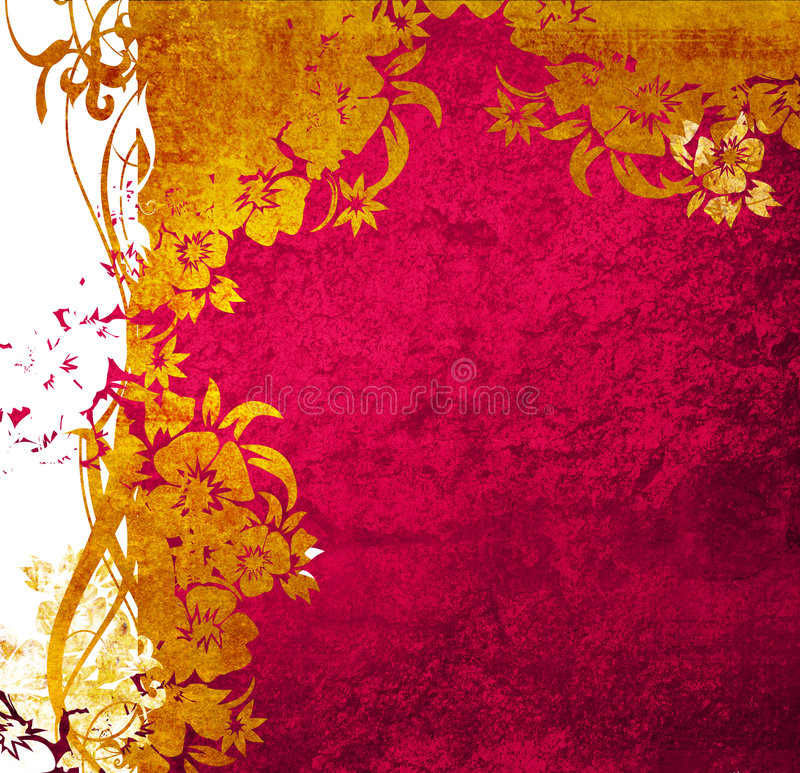 Floral style backgrounds vector illustration