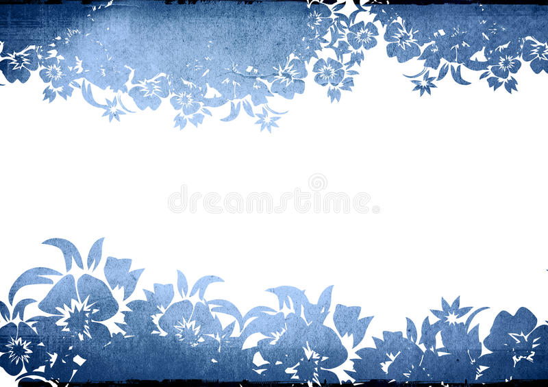 Floral style backgrounds frame royalty free illustration