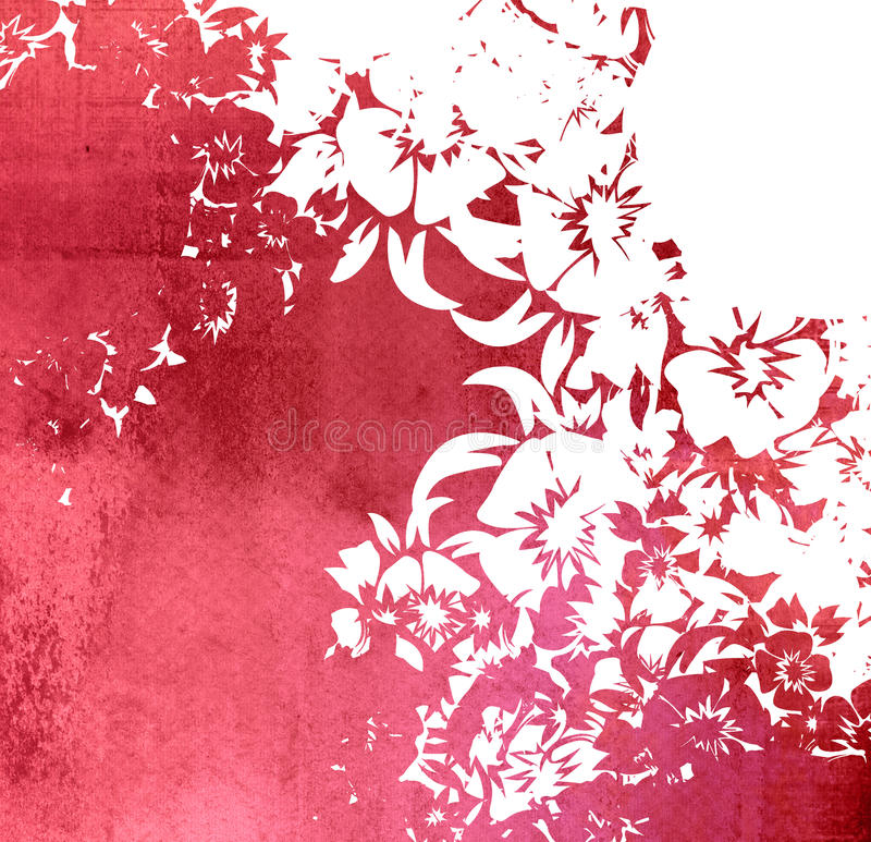 Floral style backgrounds frame stock illustration