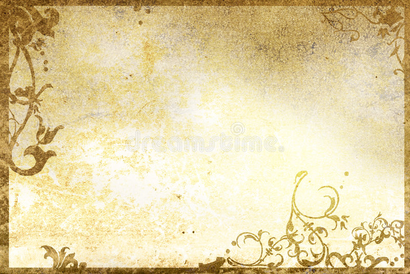Download Floral Style Old Paper Textures Frame Stock Photo - Image: 5418812
