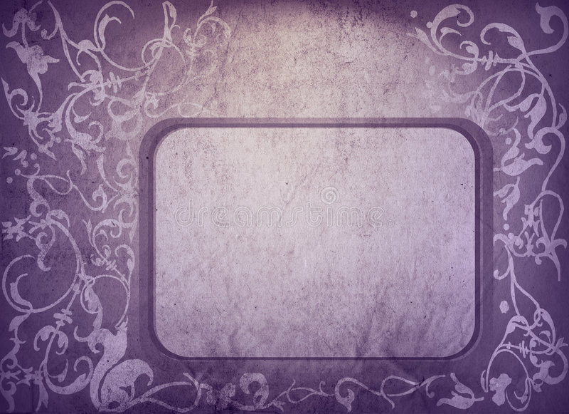 Download Floral Style Old Paper Textures Frame Stock Illustration - Image: 6507913