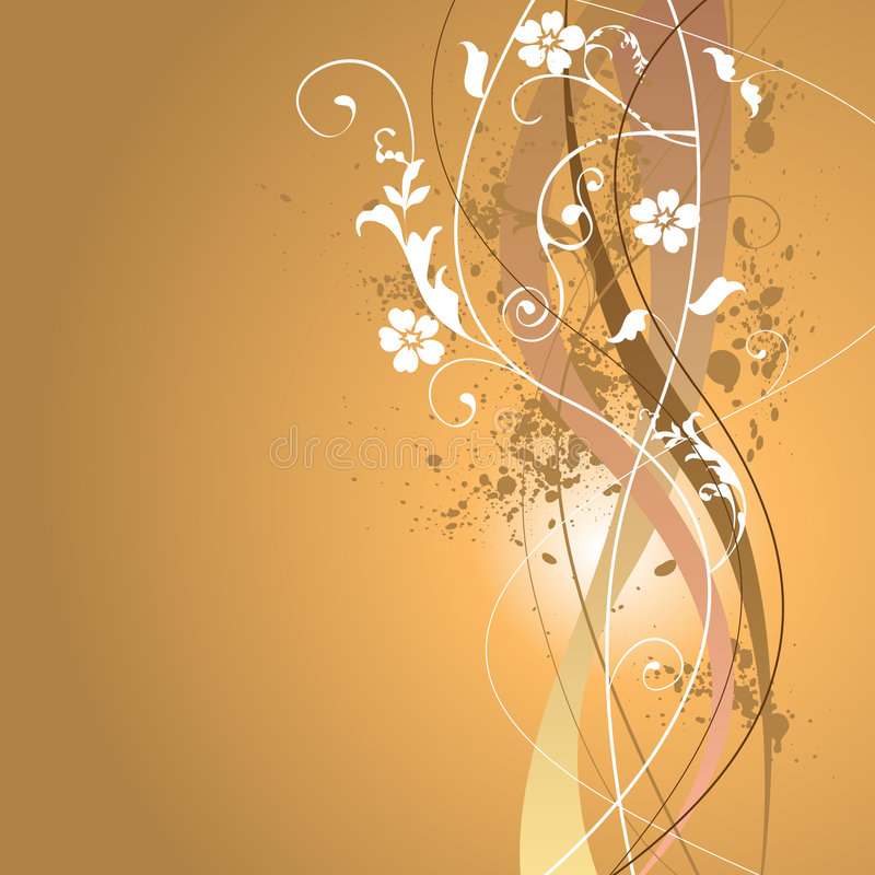 Floral Summer Background royalty free illustration