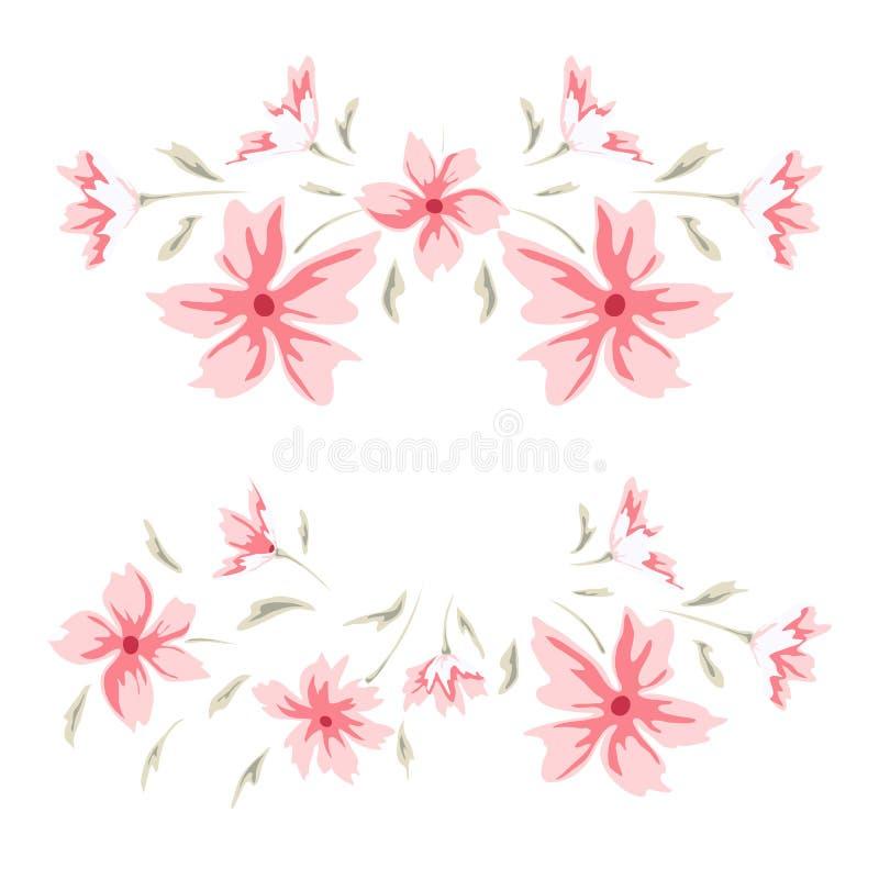 Floral sweet border stock illustration