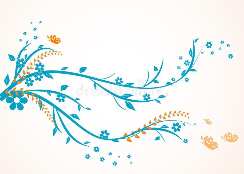 Floral swirl design royalty free illustration