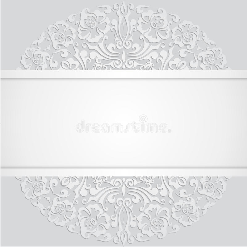 Floral swirl vector white 3d invitation cards stock vector download floral swirl vector white 3d invitation cards stock vector illustration of element background stopboris Image collections