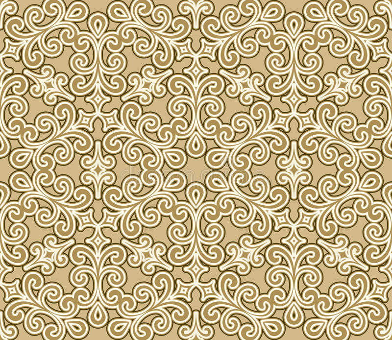 Floral swirls pattern royalty free illustration