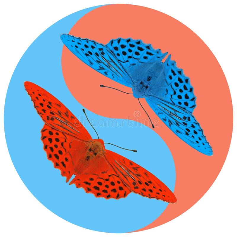 Yin Yang Butterfly Stock Illustrations – 115 Yin Yang Butterfly ...