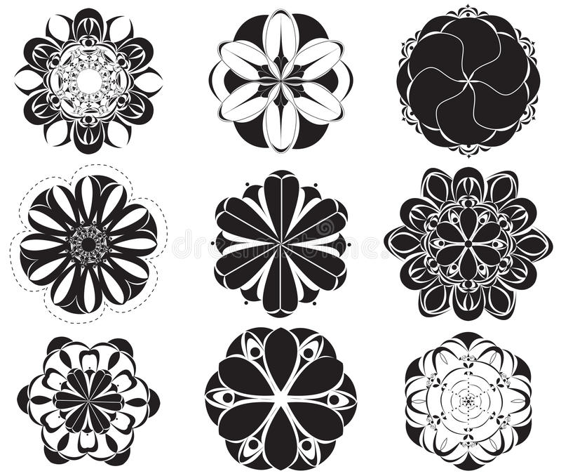 Download Floral Symbols stock illustration. Image of collection - 23989515