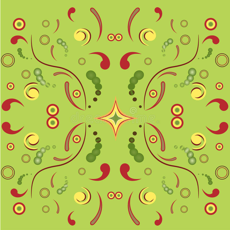 Download Floral symmetric ornament stock vector. Image of blossom - 18166373