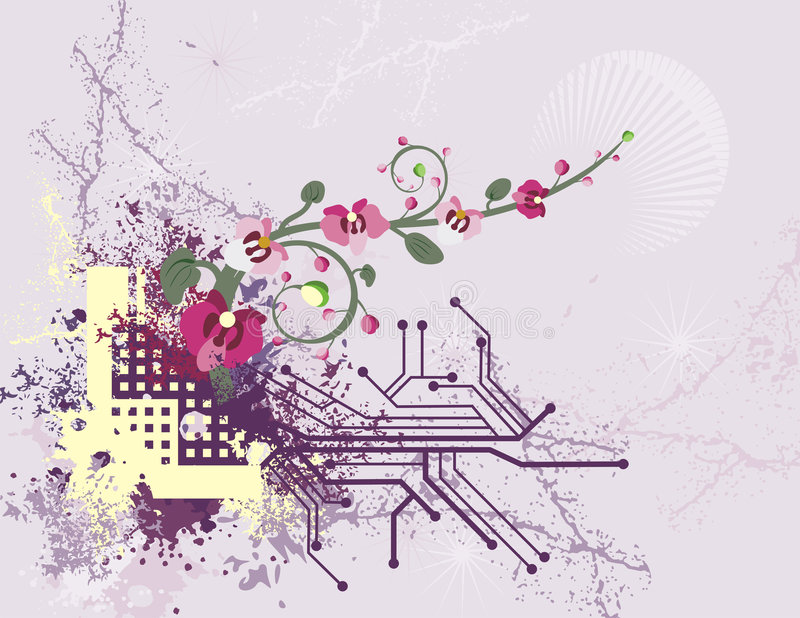 Floral technical background