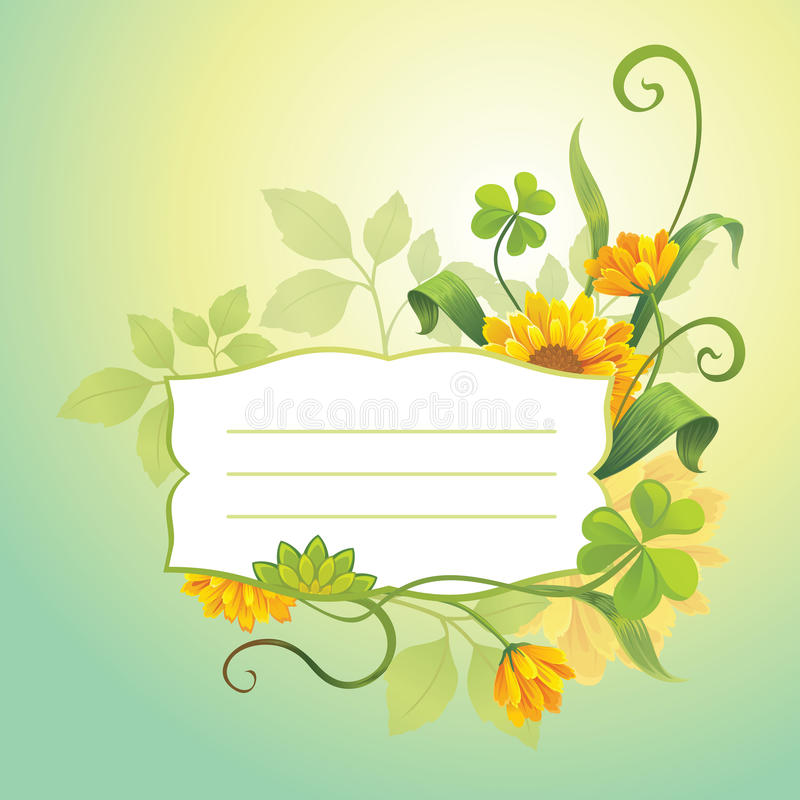 Floral template stock illustration
