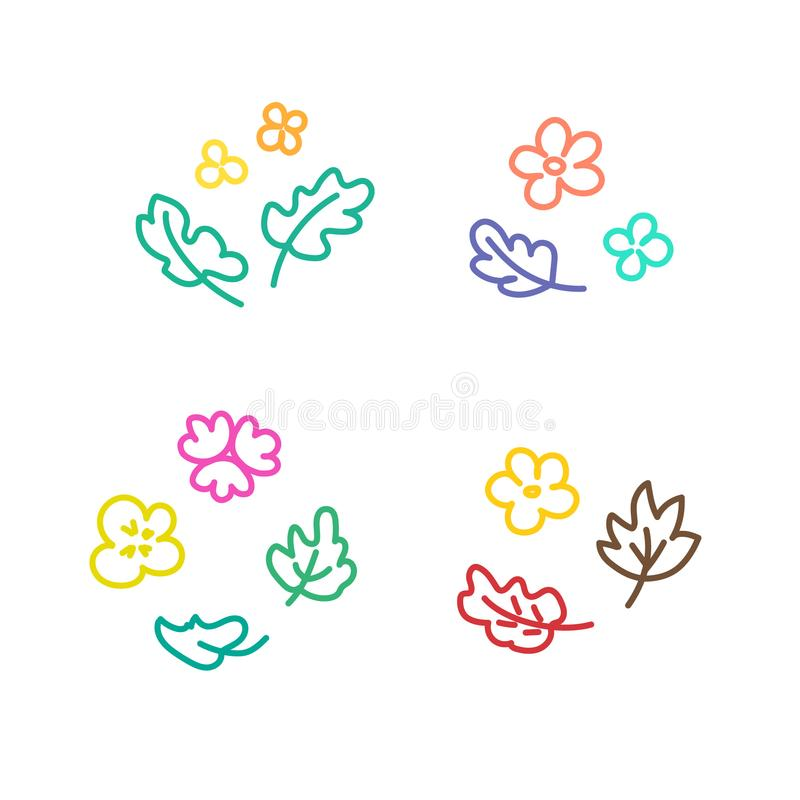 Floral templates for logos stock illustration