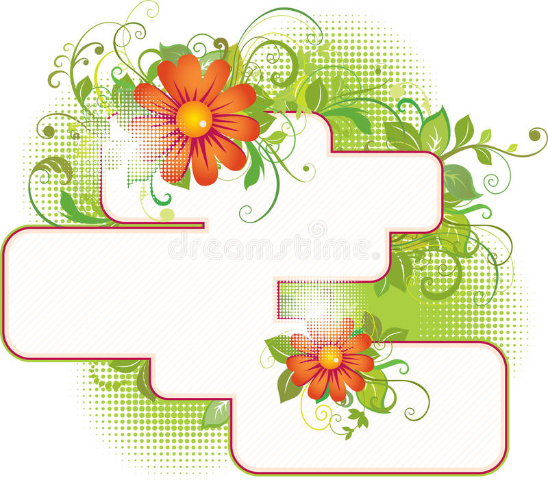 Floral text place. For your advert message stock illustration