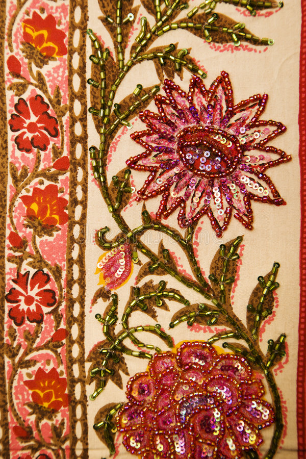 Floral textile. stock image