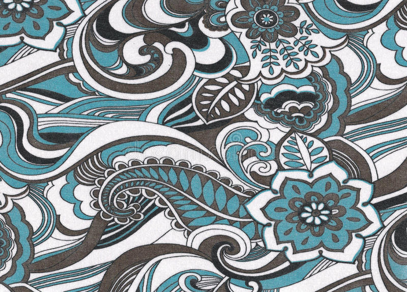 Floral textile pattern. stock photos
