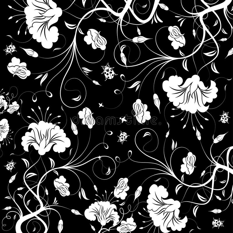 Floral texture stock illustration