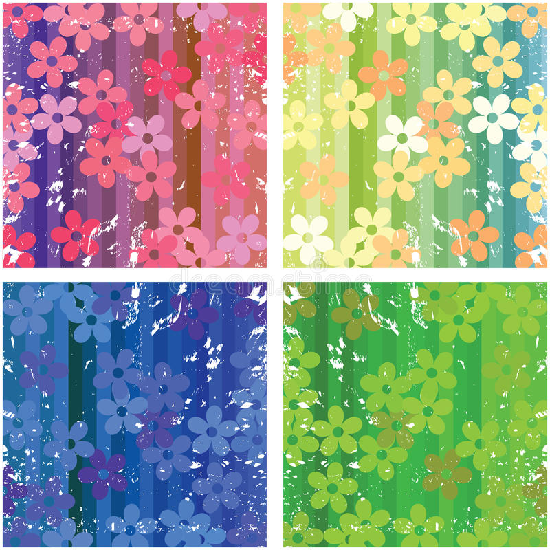 Floral textures royalty free illustration