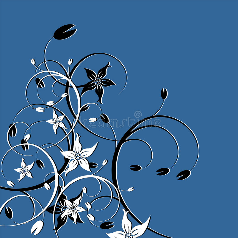 Floral_theme_04 vector illustratie
