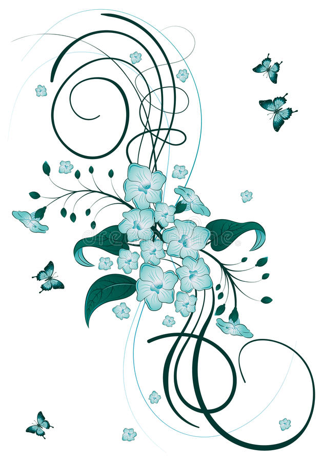 Download Floral theme stock vector. Image of backdrop, nature - 18536123