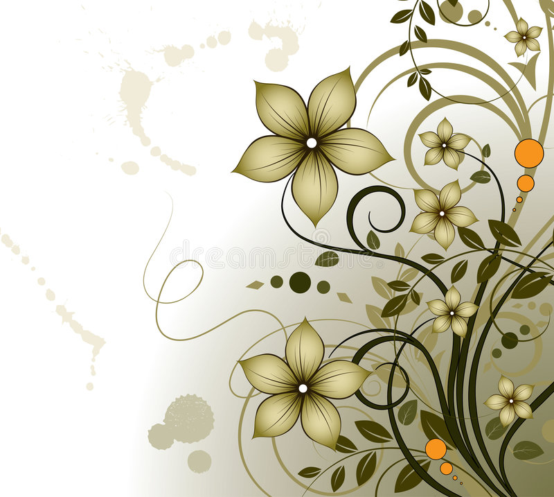 Floral theme. Abstract vector illustration. Suits well for design vector illustration