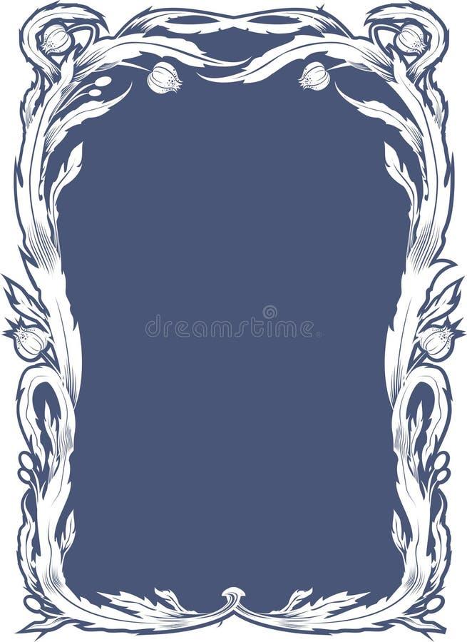 Floral Tiffany Style background stock illustration