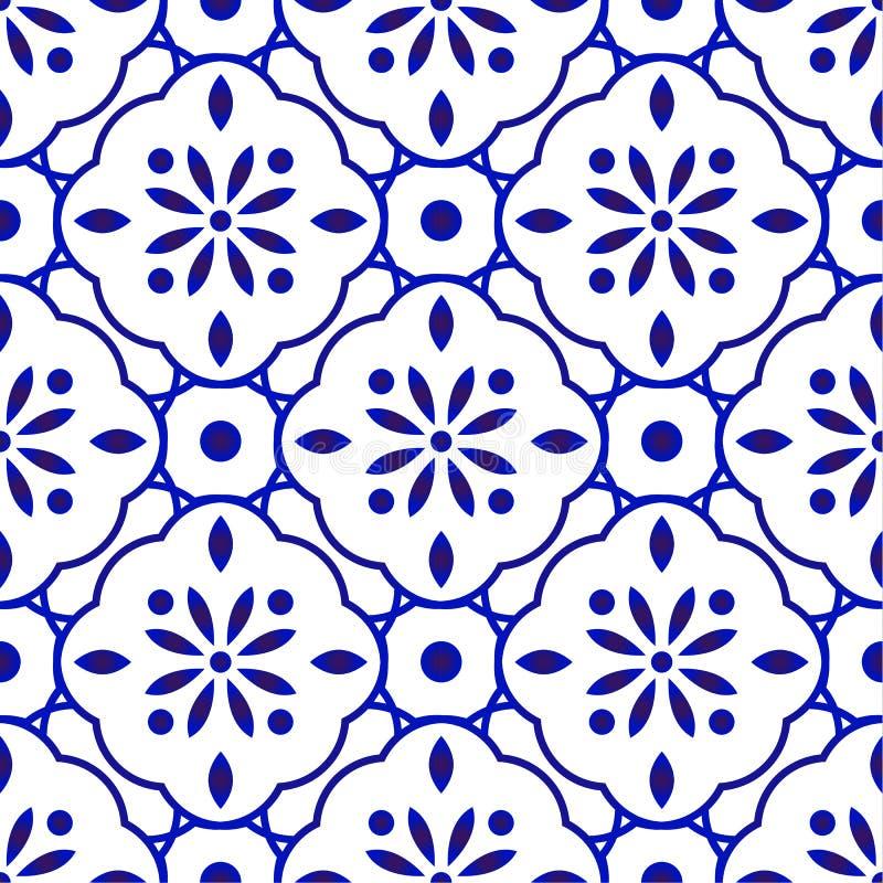 Free Floral Tile Pattern Royalty Free Stock Photos - 162789358