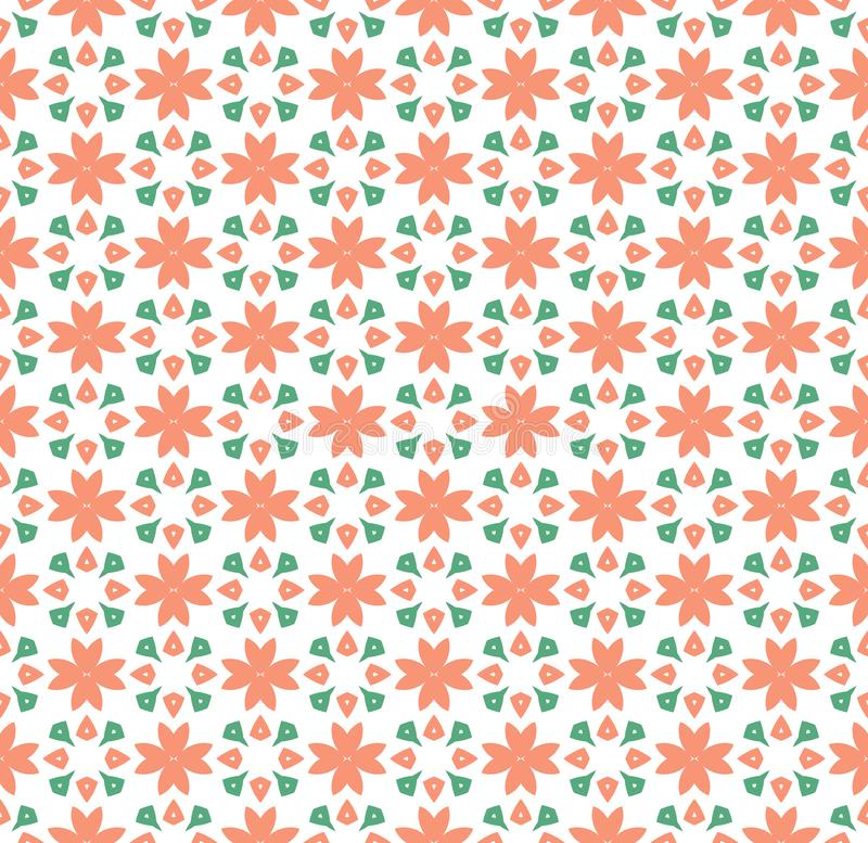 Floral Tiles Seamless Vector Pattern.flower Geometric texture pattern background stock illustration