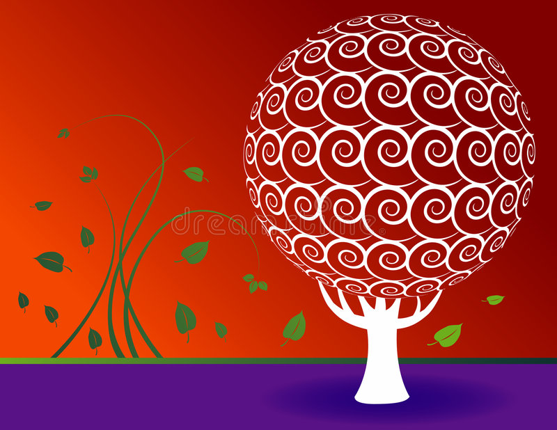 Download Floral Tree Background Royalty Free Stock Photos - Image: 6572438