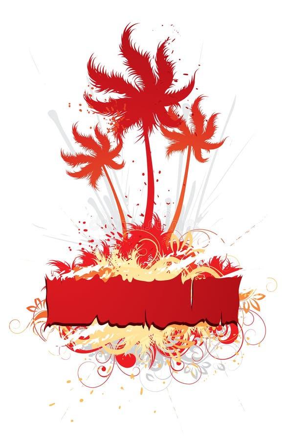 Floral Tropical Design royalty free illustration