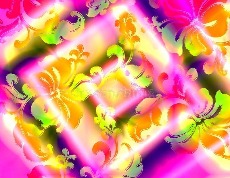 Floral tropical vue illustration de vecteur