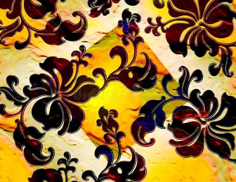 Floral tropical vue illustration libre de droits