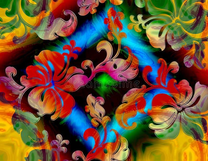 Floral tropical vue illustration stock