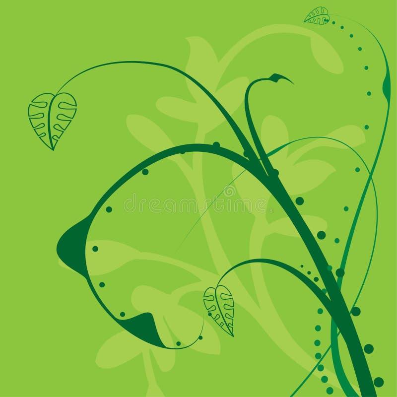 floral twirl ελεύθερη απεικόνιση δικαιώματος