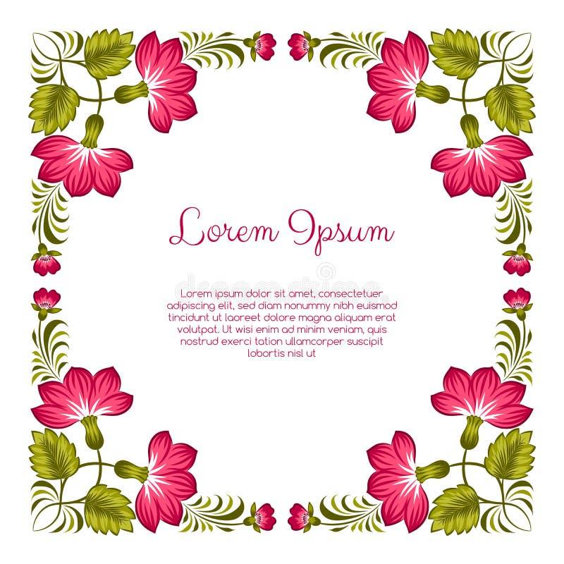 Floral ukrainian background stock illustration