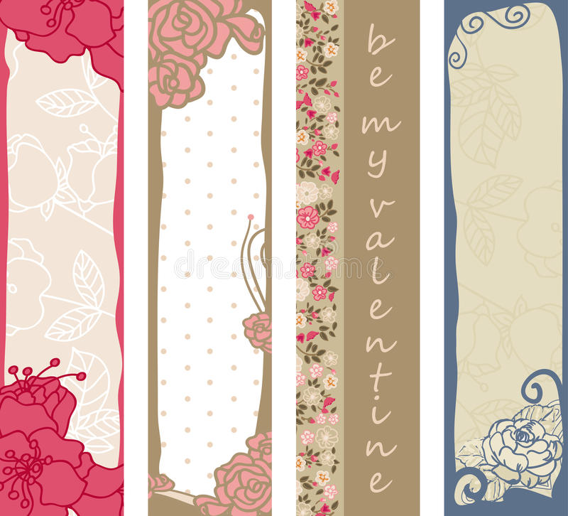 Download Floral Valentine's Day Banners Stock Vector - Illustration of invitation, pink: 28081334