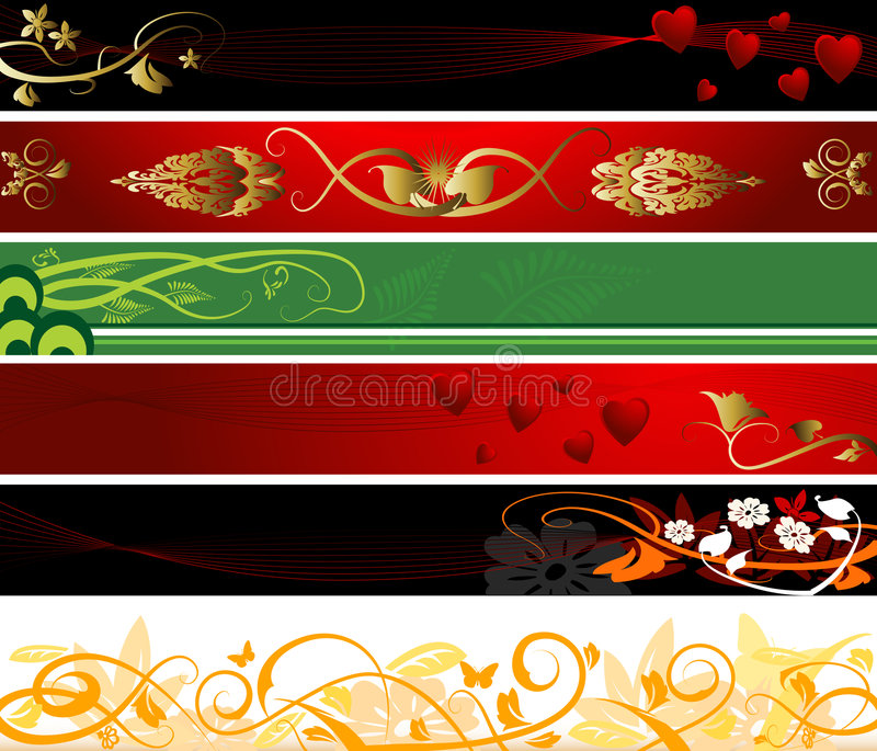 Download Floral And Valentines Ornament Stock Vector - Image: 4010318