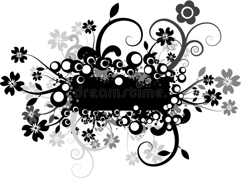 Floral Vector royalty free stock images